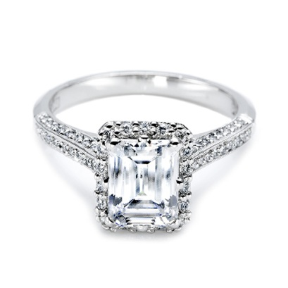 Ellen Pompeo's 3.00 cts Emerald Cut Custom Tacori Diamond Engagement Ring