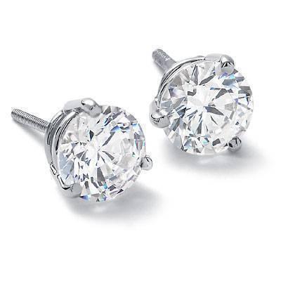 Three Prong DiamondEarrings